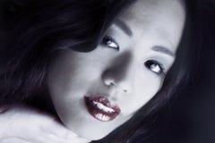 белизна красотки китайская Стоковые Фотографии RF