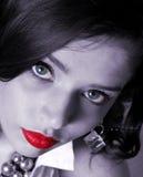 белизна красотки черная Стоковое Изображение