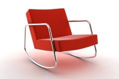 белизна кресла изолированная предпосылкой красная Стоковое Изображение
