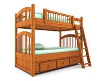 белизна кровати предпосылки изолированная нарой Стоковые Фотографии RF