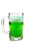 белизна кружки пива зеленая Стоковая Фотография