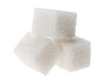 белизна кускового сахара Стоковое Фото