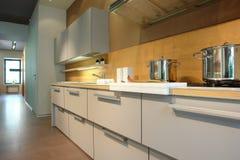 белизна кухни стоковая фотография rf