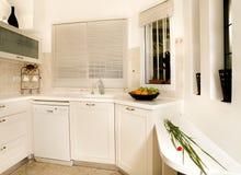 белизна кухни Стоковое Изображение RF