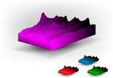 белизна ландшафта кубиков предпосылки установленная Стоковое фото RF