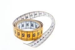 белизна ленты предпосылки измеряя Стоковое Изображение
