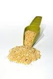 белизна ложки риса предпосылки Стоковое Фото