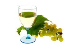 белизна лозы стеклянных виноградин органическая Стоковое Изображение
