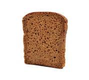 белизна ломтика хлеба предпосылки изолированная коричневым цветом Стоковые Изображения