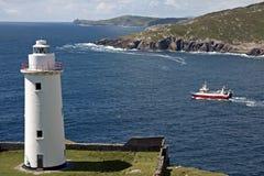 белизна маяка Ирландии графства пробочки Стоковые Фото