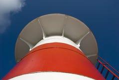 белизна маяка красная Стоковая Фотография RF