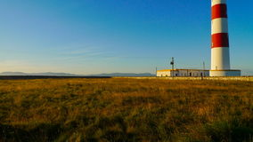 белизна маяка красная Стоковое Фото