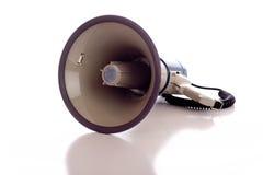 белизна мегафона Стоковые Фотографии RF