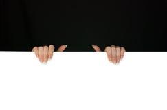 белизна места черных рук головная ваша стоковое изображение rf