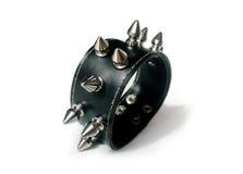 белизна металла goth браслета панковская Стоковое Фото