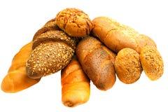 белизна множества хлеба предпосылки свежая Стоковое Изображение