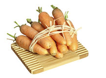 белизна морковей доски предпосылки свежая Стоковые Фотографии RF