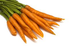 белизна моркови предпосылки Стоковые Фото
