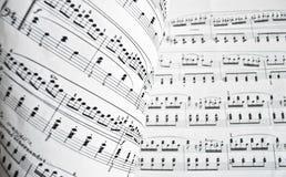 белизна музыкального счета Стоковое Изображение RF
