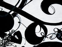 белизна надписи на стенах предпосылки черная Стоковое фото RF
