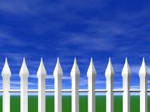 белизна неба пикетчика загородки Стоковое Фото