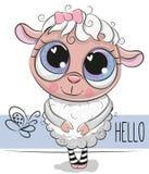 белизна овец овечки иллюстрации шаржа предпосылки милая иллюстрация штока