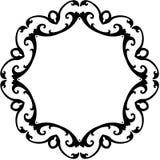 белизна переченя черной рамки круглая Стоковые Изображения