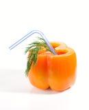 белизна перца колокола предпосылки изолированная коктеилом Стоковое Изображение