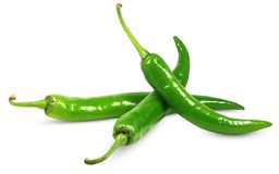 белизна перца chili изолированная зеленым цветом стоковое фото rf