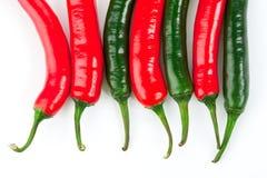 белизна перца chili красная Стоковая Фотография