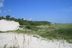 белизна песка дюны Стоковые Изображения