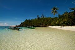 белизна песка рая острова пляжа тропическая Стоковое Фото