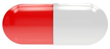 белизна пилюльки красная Стоковая Фотография