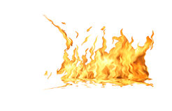 белизна пламени пожара Стоковые Изображения