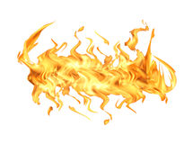 белизна пламени пожара Стоковое Изображение RF