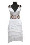 белизна платья женская Стоковые Фотографии RF