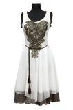 белизна платья женская Стоковое фото RF