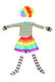 белизна платья клоуна смешная изолированная пестротканая Стоковая Фотография RF