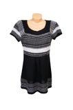 белизна платья модная striped Стоковое Изображение RF