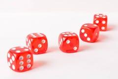 белизна плашек предпосылки абстрактная иллюстрация игры принципиальной схемы 3d Случайные игры Стоковое Изображение