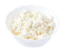 белизна плиты коттеджа сыра Стоковые Изображения