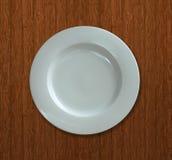 белизна плиты обеда пустая стоковая фотография