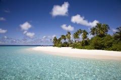 белизна пляжа песочная Стоковая Фотография