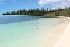 белизна пляжа песочная Стоковое Фото