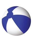 белизна пляжа шарика голубая Стоковая Фотография RF