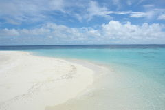 белизна пляжа Стоковое Изображение RF