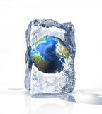 белизна поверхности льда глобуса земли кирпича Стоковые Изображения RF