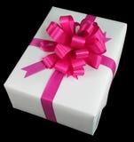 белизна подарка коробки Стоковое Изображение RF