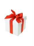 белизна подарка коробки Стоковая Фотография RF