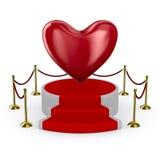 белизна подиума сердца предпосылки бесплатная иллюстрация